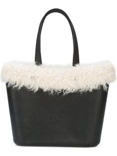 сумка-тоут с отделкой из искусственного меха Marc Cain