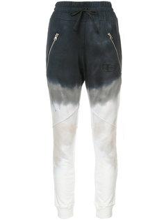 """спортивные брюки с узором """"тай-дай"""" Baja East"""