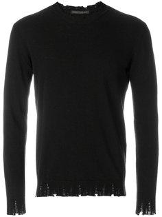 свитер с необработанными краями Daniele Alessandrini