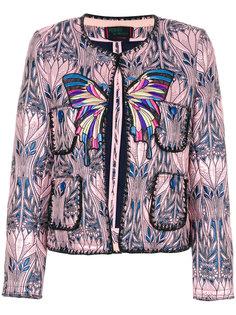 укороченная жаккардовая куртка Femme By Michele Rossi