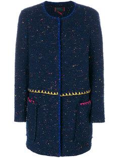 текстурированное однобортное пальто Femme By Michele Rossi