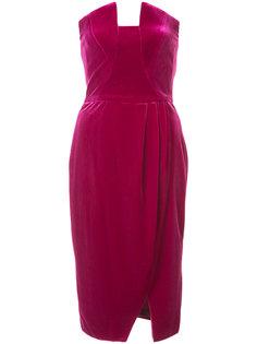 драпированное бархатное платье Black Halo
