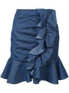 джинсовая юбка с оборками Caroline Constas