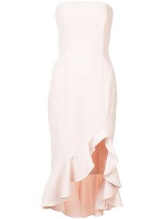 платье без бретелек с оборками Jay Godfrey