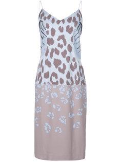 платье-комбинация с принтом Salvatore Ferragamo