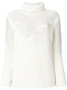 свитер с высокой горловиной и пайетками Ermanno Scervino