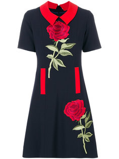 платье с цветочной вышивкой Femme By Michele Rossi