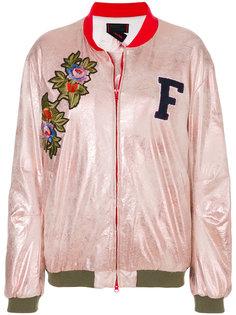декорированная куртка бомбер Femme By Michele Rossi
