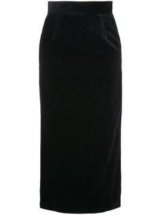 вельветовая юбка миди Estnation
