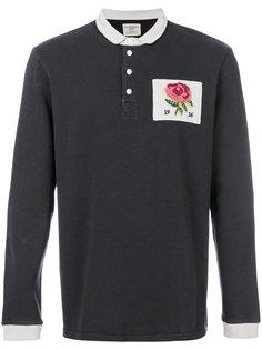 футболка-поло с принтом розы Kent & Curwen