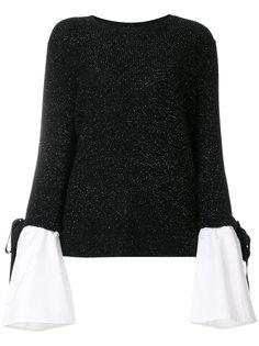 свитер с многослойными рукавами Luisa Cerano