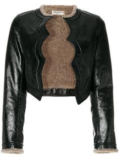 укороченная куртка с подкладкой из овчины Saint Laurent