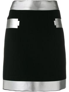 юбка мини с серебристой окантовкой Moschino