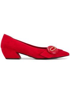 туфли-лодочки с пуговицами Prada