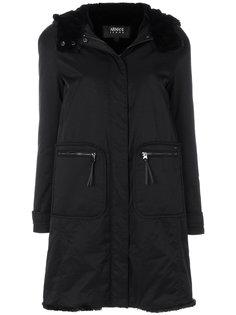 пальто с отделкой из искусственного меха Armani Jeans