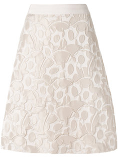 embossed detail A-line skirt  Luisa Cerano