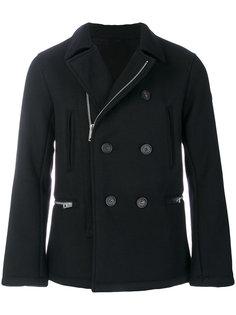 двубортное пальто на молнии  Armani Jeans