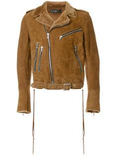 байкерская куртка с молниями Amiri