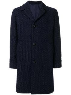 однобортное пальто с трикотажной отделкой Mp  Massimo Piombo