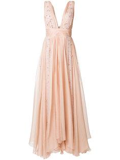 платье с жемчужной отделкой  Maria Lucia Hohan