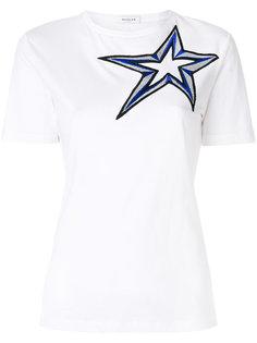 футболка с вышитой звездой  Mugler