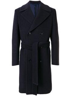 двубортное пальто с поясом Mp  Massimo Piombo