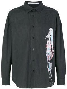полосатая рубашка с вышивкой Chalayan