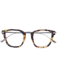 очки с узором черепашьего панциря Tom Ford Eyewear