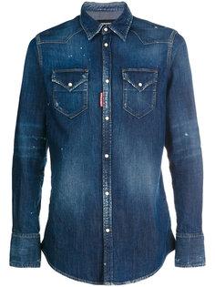 джинсовая рубашка с выцветшим эффектом Dsquared2
