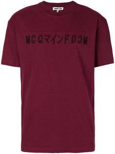 футболка с вышитым логотипом McQ Alexander McQueen