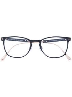 очки с тонкой круглой оправой Tom Ford Eyewear