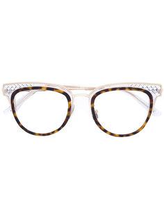 очки в оправе кошачий глаз Bottega Veneta Eyewear