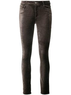бархатистые джинсы скинни Paige