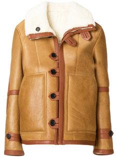 пальто с отделкой из меха ягненка Joseph