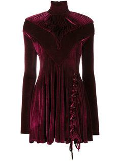 велюровое платье мини с высокой горловиной Y / Project