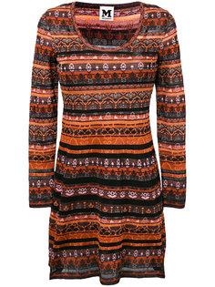 трикотажное платье в полоску M Missoni