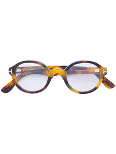 очки в круглой толстой оправе Tom Ford Eyewear