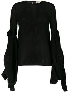 блузка с объемными рукавами Saint Laurent