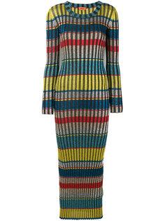полосатое платье-макси с блестками Missoni