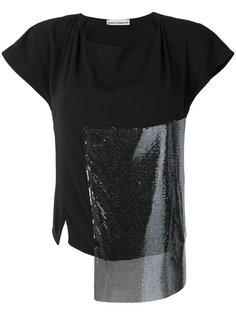 футболка в стилистике пэчворк Paco Rabanne