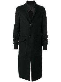 однобортное пальто Rick Owens
