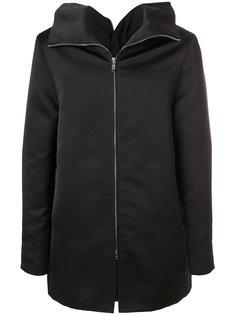прямое пальто на молнии Rick Owens