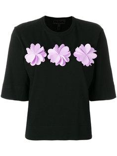 футболка с цветочной аппликацией  Paskal