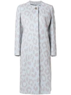 пальто с леопардовым узором Salvatore Ferragamo