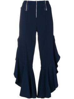 укороченные брюки с оборками  Jonathan Simkhai