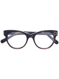 "очки в оправе ""кошачий глаз"" Stella Mccartney Eyewear"