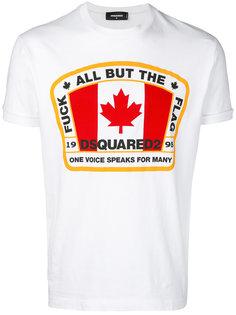 футболка с принтом флага Dsquared2
