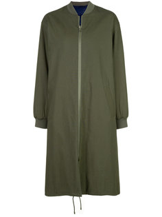 пальто с воротником в рубчик Army Yves Salomon