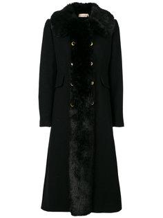 пальто с искусственного меха Tory Burch