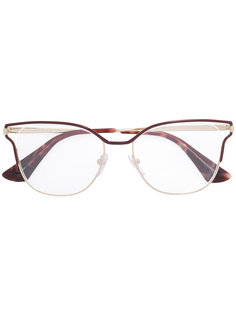 """очки в оправе """"кошачий глаз"""" Prada Eyewear"""
